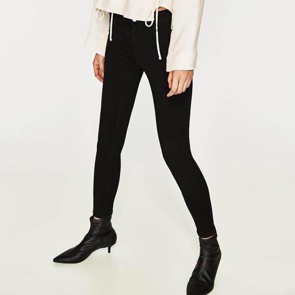 1e9ed428 Zara High Elasticity Black Skinny Denim Jeans NWT NWT